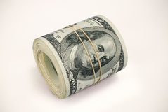 Dollars. Dollar Notes Roll Photo (with clipping path Royalty Free Stock Photo