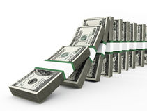 Dollars domino Royalty Free Stock Photo