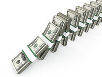 Dollars domino Stock Photo