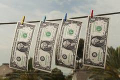 Dollars Drying Royalty Free Stock Photos