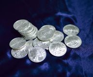 Dollars en argent Photo stock