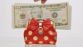Dollars en beurs Sluit omhoog stock video