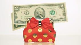 Dollars en beurs Sluit omhoog stock videobeelden