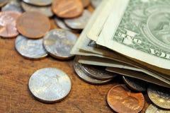 Dollars en centen royalty-vrije stock foto's