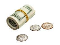 Dollars en centen Royalty-vrije Stock Afbeeldingen