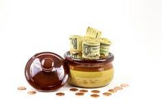 Dollars en centen Stock Foto's
