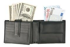 Dollars en euro royalty-vrije stock afbeeldingen