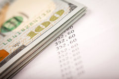 Dollars en Leningsplan Royalty-vrije Stock Foto