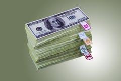 Dollars en planningskosten Royalty-vrije Stock Foto's