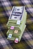 Dollars en planningskosten Stock Fotografie