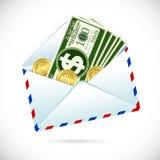 Dollars in Envelope Stock Image