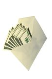 Dollars in envelope. Dollars in an envelope-concept of a bribe and illegal compensation Stock Image