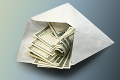 Dollars in envelope Royalty Free Stock Photography