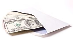 Dollars in envelope Royalty Free Stock Images
