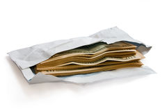 Dollars in envelope Royalty Free Stock Photo