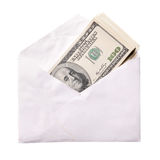 Dollars in envelope Stock Photography