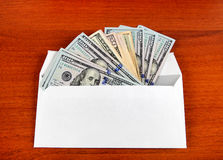 Dollars in Envelope Royalty Free Stock Photos