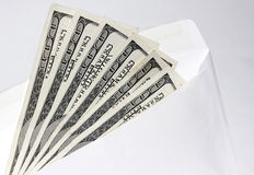 Dollars in an envelope 3 Royalty Free Stock Image