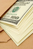 Dollars in an envelope. Stock Photography