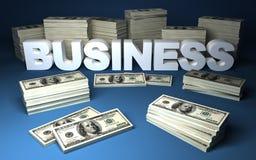 Dollars et affaires Images libres de droits