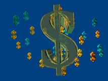 Dollars et argent comptant 1 Photos libres de droits