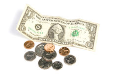 Dollars et cents Photographie stock