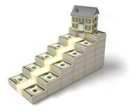 Dollars et maison Image stock