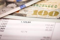 Dollars et plan de prêt Images libres de droits