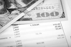 Dollars et plan de prêt Image stock