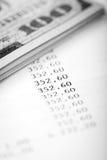 Dollars et plan de prêt Images stock