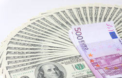 Dollars. Euro. Royalty Free Stock Images