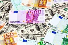 Dollars and Euro Stock Photos