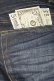 Dollars, euro et livres Images stock