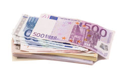 Dollars and euro money Stock Photos