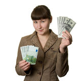 Dollars or euros Royalty Free Stock Photography