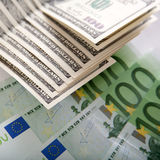 Dollars and euros. Are the best money in the world Stock Photos