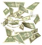 Dollars fall Royalty Free Stock Photography