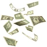 Dollars fall Stock Photo