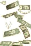 Dollars fall Stock Image