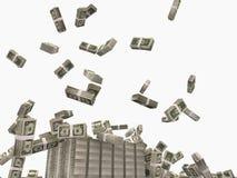 Dollars falling. On the floor stock photos