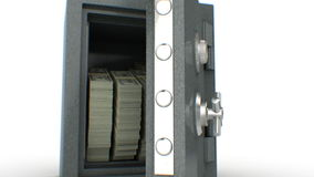 Dollars falling out from the Safe. HD 1080.  stock video footage