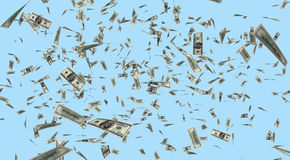 Dollars Falling from the Sky Royalty Free Stock Photo