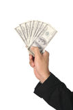 Dollars fan Royalty Free Stock Images
