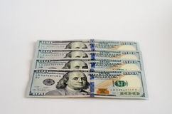 Dollars. A few hundred dollars with the image of the president Royalty Free Stock Image