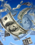Dollars fly concept Stock Images