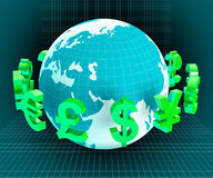 Dollars Forex Indicates Foreign Exchange And European Stock Photography