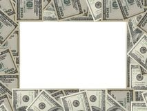 Dollars frame Royalty Free Stock Photos