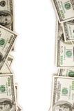 Dollars frame stock photo