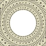 Dollars Frame. Over White Background Stock Photography
