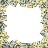 Dollars frame with clipping patch stock photos